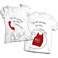Комплект парных футболок Телефон любви