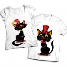 Комплект парных футболок Черный кот