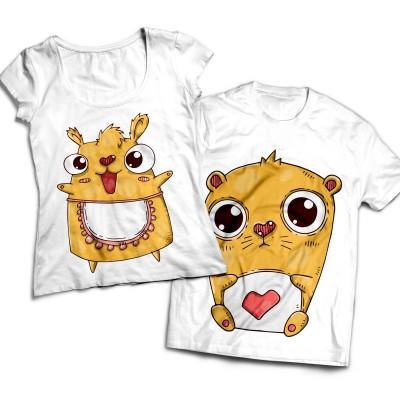 Комплект парных футболок Парочка