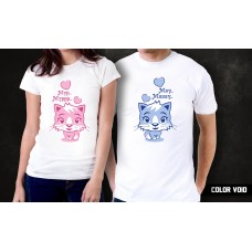 Комплект парных футболок Мур. Мяу