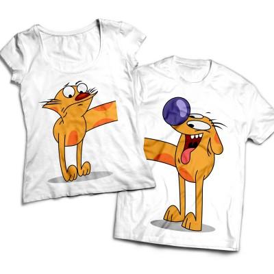 Комплект парных футболок Котопес