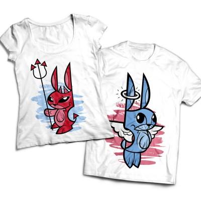 Комплект парных футболок Зайки