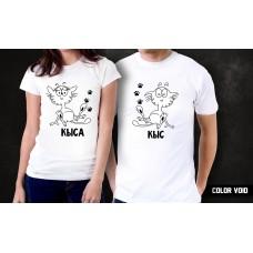 Комплект парных футболок Кыс и Кыса