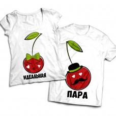 Комплект парных футболок Вишенки