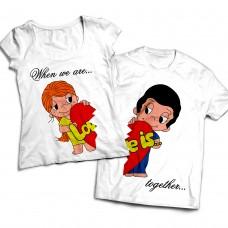 Комплект парных футболок Love is