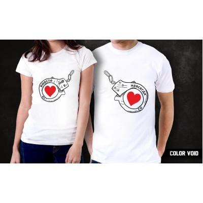 Комплект парных футболок Вместе навсегда