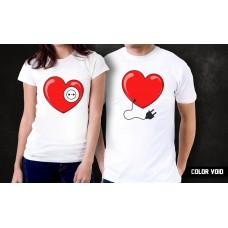 Комплект парных футболок Сердца