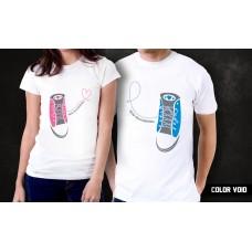 Комплект парных футболок Ходим парой