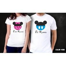 Комплект парных футболок Минни и Микки