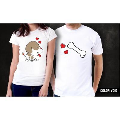 Комплект парных футболок Пес и кость