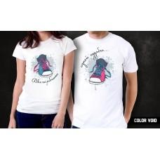 Комплект парных футболок Две половинки