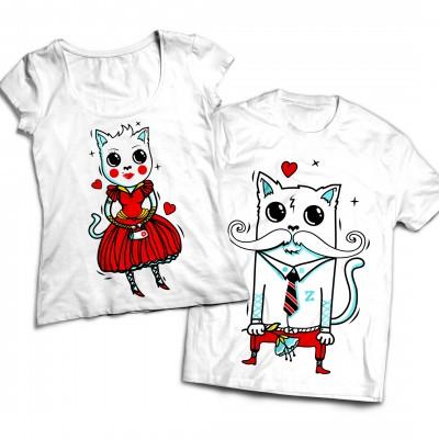 Комплект парных футболок Cats