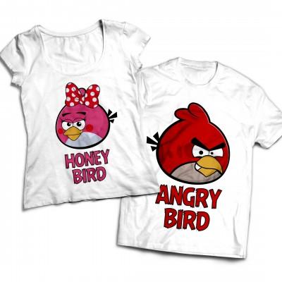Комплект парных футболок Angry Bird