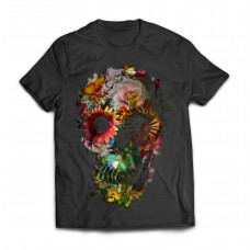 Футболка Цветочный череп