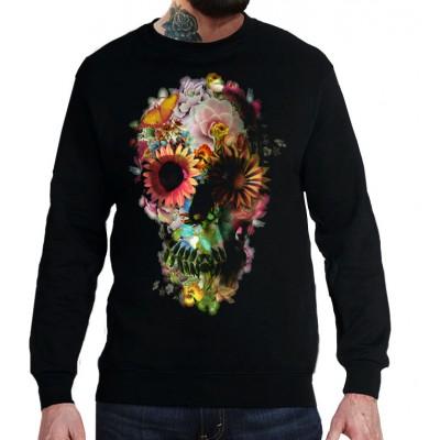 Свитшот Цветочный череп