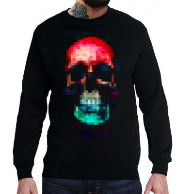 Свитшот Пиксельный череп