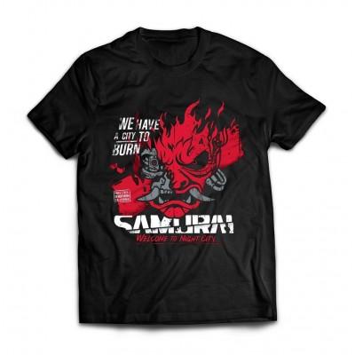 Футболка Cyberpunk Samurai v1