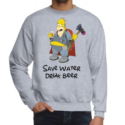 Свитшот Гомер и пиво