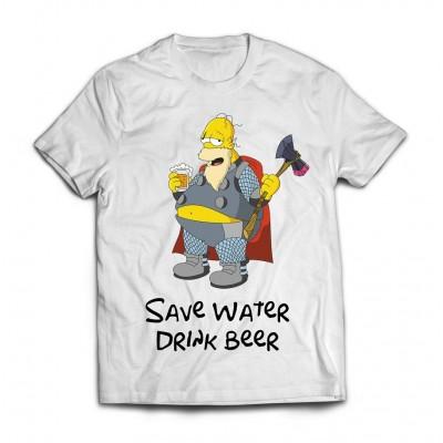 Футболка Гомер и пиво