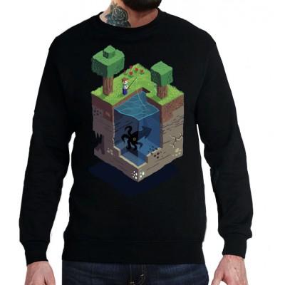 Свитшот Minecraft. Рыбалка