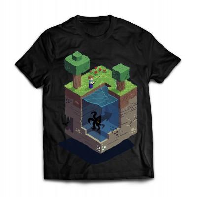 Футболка Minecraft. Рыбалка