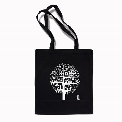 Сумка шоппер Дерево птиц